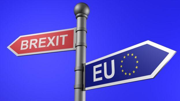 brexit a EU ukazatel cesty