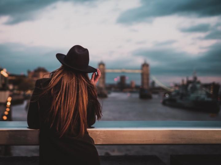 fotografie holky v Londýně